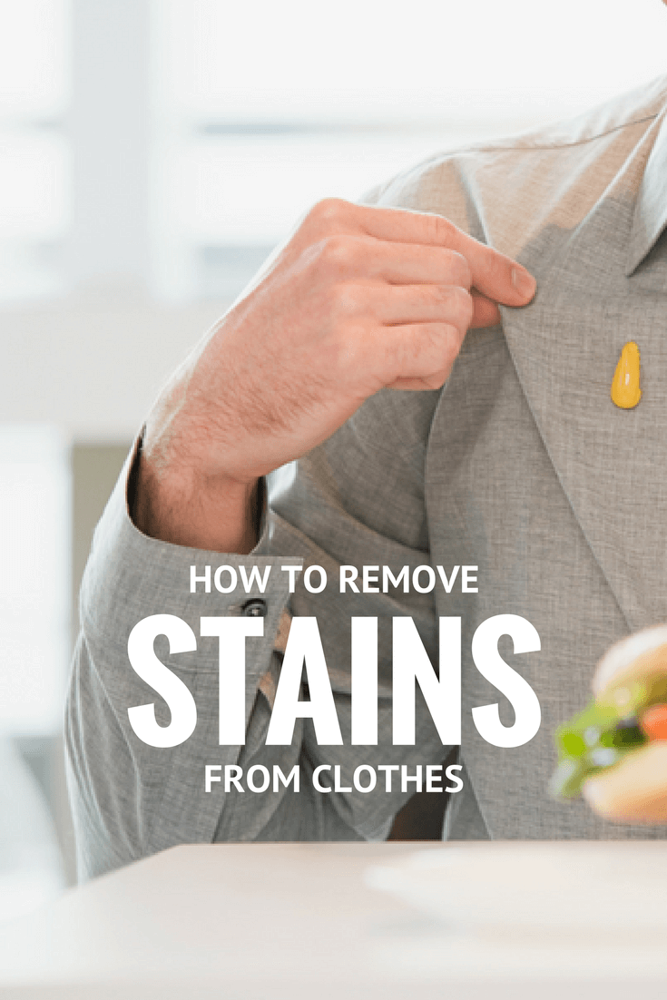 How To Get Stains Out Of Clothing | BBQ sauce, grease, ketchup, even ink all come out with these easy laundry care tips. #laundry