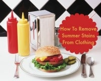 How to remove summer stains from clothing via HousewifeHowTos.com