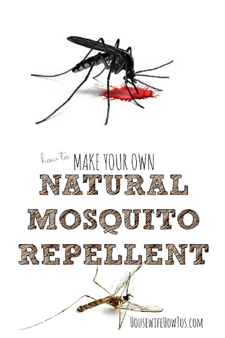 Make your own natural mosquito repellent - With the threat of Zika and West Nile, I'm always worried about mosquito bites, but I hate the smell and feel of most bug sprays. This all-natural solution WORKS, and it smells lovely, too! | via HousewifeHowTos.com