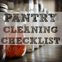 Pantry cleaning checklist from HousewifeHowTos.com