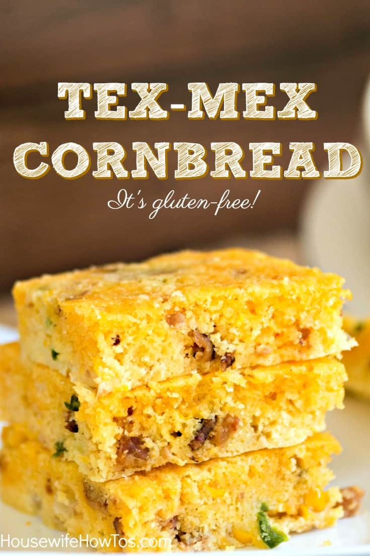 Tex-Mex Cornbread | Growing up, I never realized this family recipe was gluten-free. I just knew I loved the combination of bacon, cheese, corn, and jalapenos in a cornbread that's practically a meal