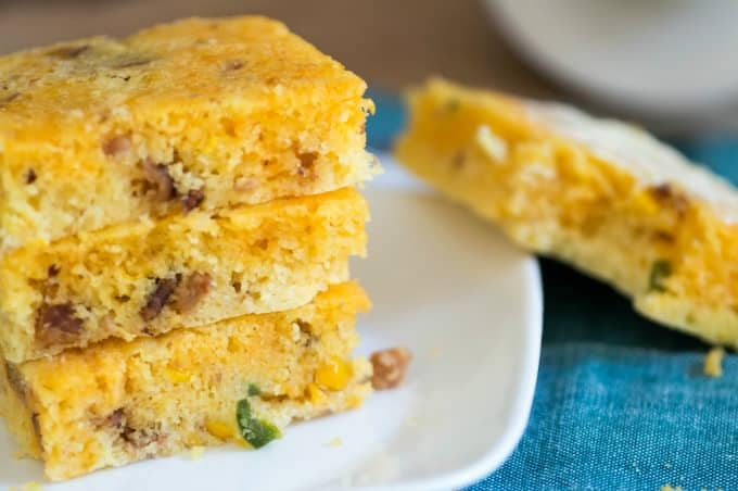 Tex-Mex Cornbread - Served straight or slathered in butter this is a treat for your tastebuds