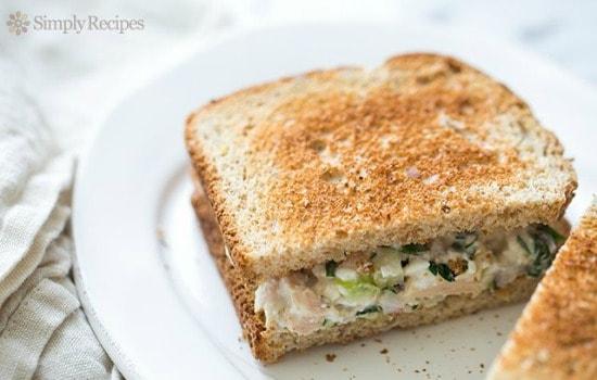 A Month Of School Lunch Ideas - Tuna Salad Sandwich