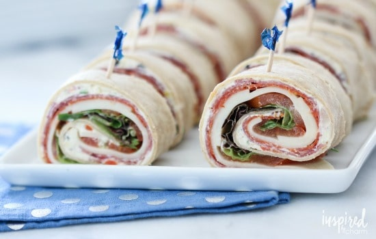 A Month of School Lunch Ideas - Italian Sub Sandwich Roll Ups