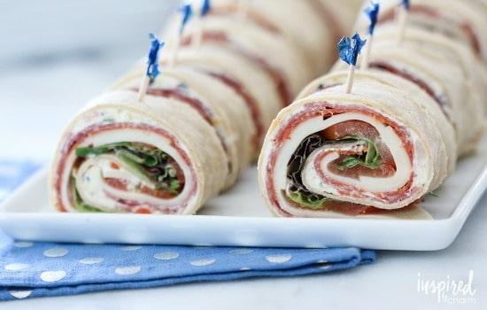 A Month of School Lunch Ideas - Italian Sub Sandwich Roll Ups