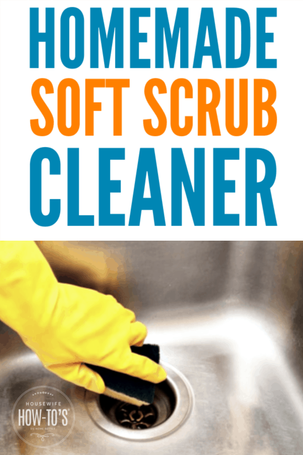 Homemade Soft Scrub Cleaner - Gentle yet effective scouring powder #cleaning #homemadecleaner #kitchencleaning