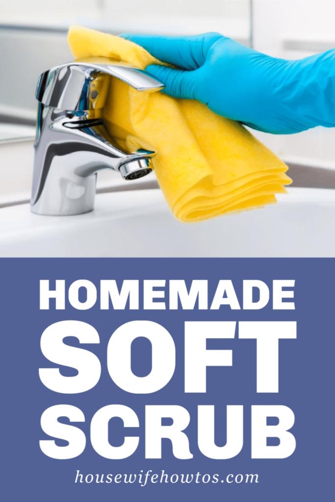 Homemade Soft Scrub Scouring Cleaner