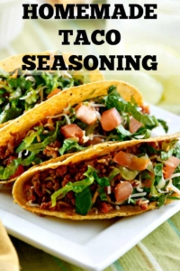 Homemade Taco Seasoning to keep on hand for Taco Tuesdays. Skip the excess sodium and preservatives -- this tastes even better and keeps well in the pantry! #tacotuesday #recipe