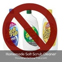 Homemade Soft Scrub cleaner from HousewifeHowTos.com