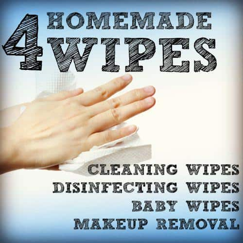 Homemade wipes for cleaning from HousewifeHowTos.com