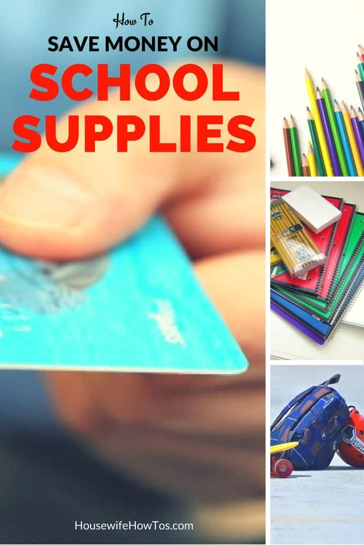 How To Save Money On School Supplies - I love these great money-saving tips! | HousewifeHowTos.com