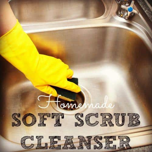How to make homemade soft scrub cleaner from HousewifeHowTos.com