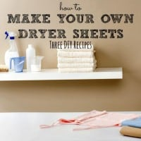 How to make your own dryer sheets from HousewifeHowTos.com