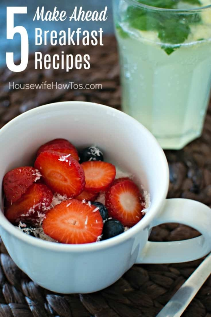 Make Ahead Breakfast Recipes Get ready for back-to-school and prep meals to serve the kids a hot breakfast on busy school mornings
