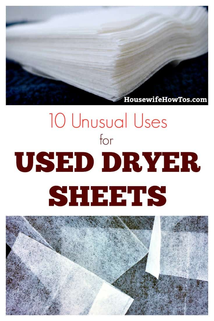 10 Unusual Uses for Used Dryer Sheets | Don't toss used dryer sheets. Use them to tackle these tasks around the house. | #recycling #cleaningtips