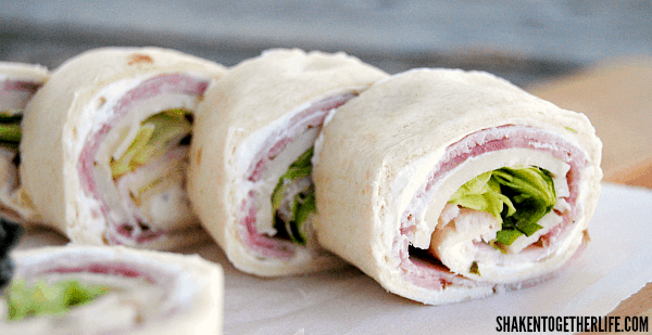 A month of school lunch ideas - Ham and Cheese Rollups