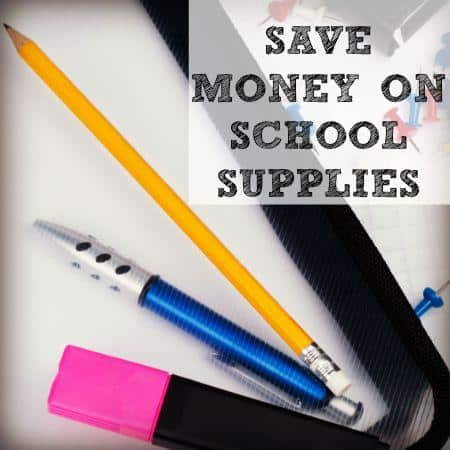 how to save money on school supplies from HousewifeHowTos.com