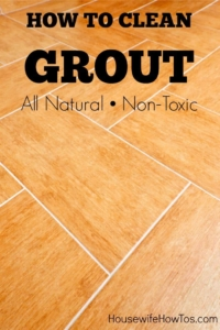 How To Clean Grout | Clean tile grout on your floors or in your shower with these all-natural and non-toxic methods to remove grime and stains