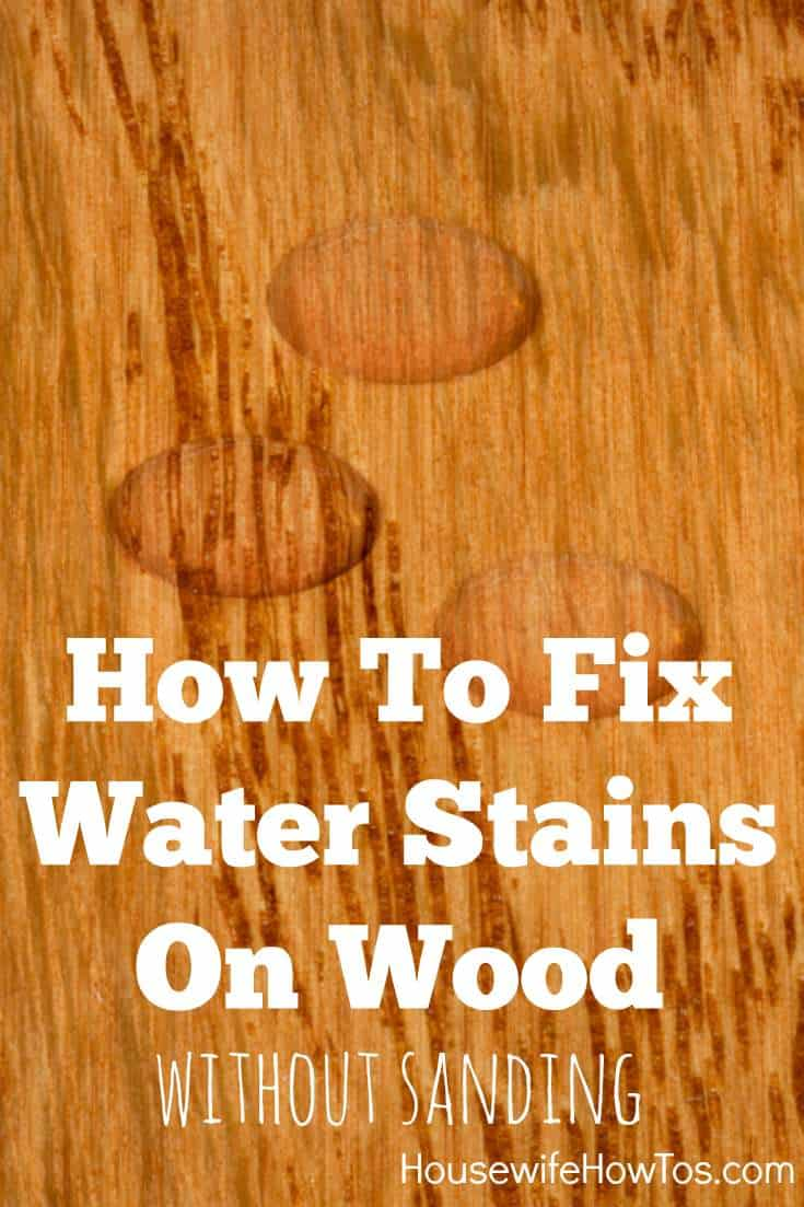 How To Fix Water Stains On Wood Housewife S. How To Fix Water Stains On Wood Table   Table Designs