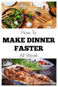 How To Make Dinner Faster Five easy tips that save me HOURS in the kitchen each week #cookingtips #menuplanning