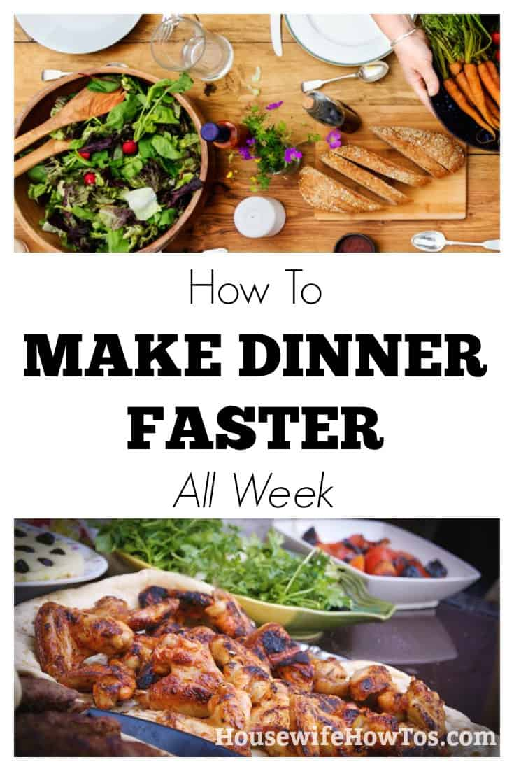 How To Make Dinner Faster | Five easy tips that save me HOURS in the kitchen each week | #cookingtips #menuplanning
