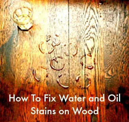 fix water stains on wood from HousewifeHowTos.com