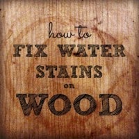 how to repair water stains on wood from HousewifeHowTos.com