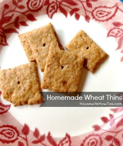 How to make homemade wheat thins from HousewifeHowTos