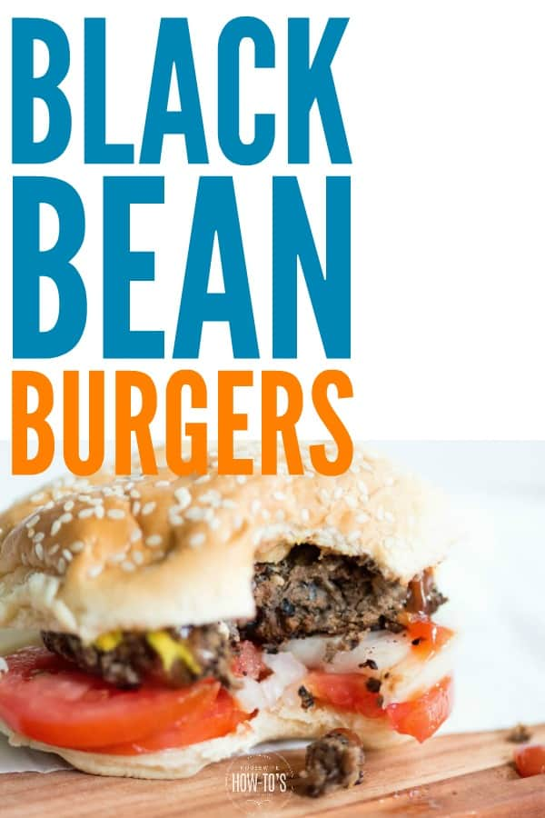 Black Bean Burgers Recipe   Start with canned or home-cooked black beans and make the easiest, most delicious meatless burgers you've ever had. #burgers #blackbeanburgers #vegetarianburgers #meatless #meatlessmondays #meatfree #meatfreemeals #vegetarian #beans #easydinnerrecipe #housewifehowtos #healthy #cleaneating