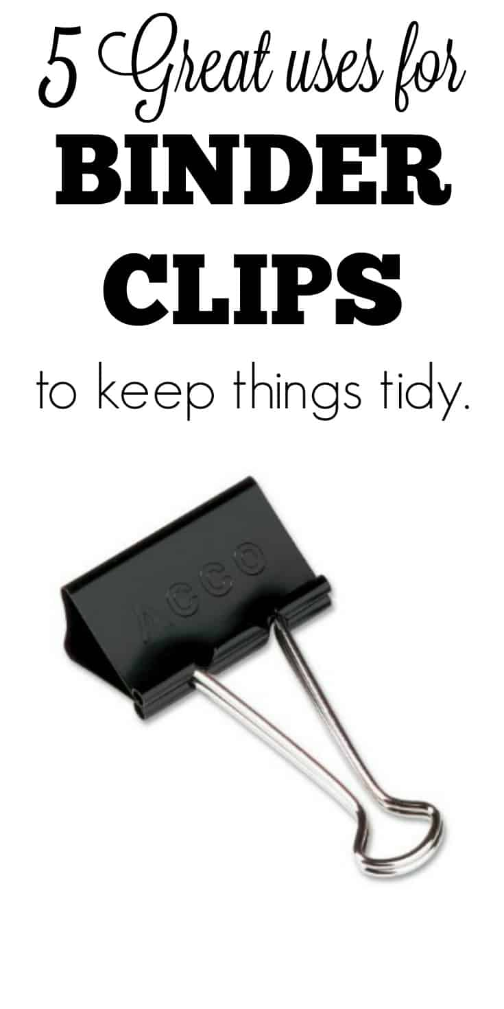great uses for binder clips keep your kitchen purse even your bathroom tidy. Black Bedroom Furniture Sets. Home Design Ideas