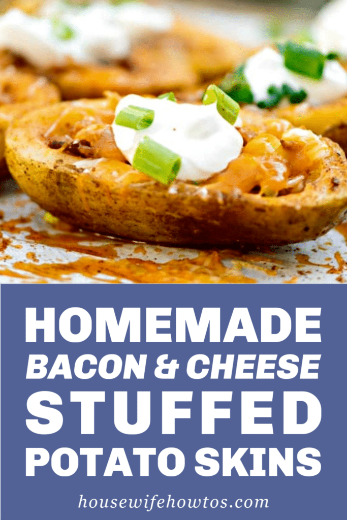 Homemade Bacon and Cheese Stuffed Potato Skins Recipe