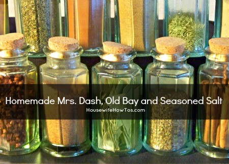 Homemade Mrs Dash Old Bay and Seasoned Salt From HousewifeHowTos