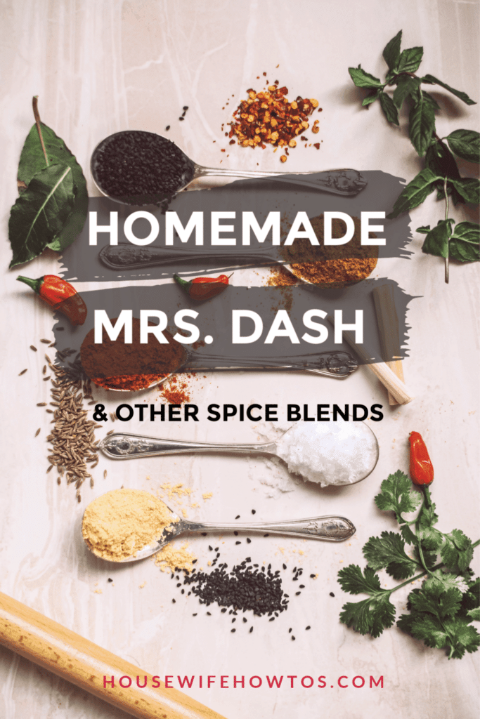 Homemade Mrs Dash and other spice blends