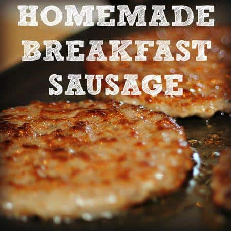 Homemade breakfast sausage recipe from HousewifeHowTos.com