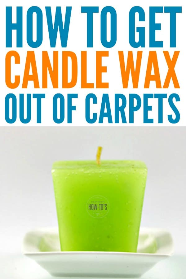 How to Get Candle Wax out of Carpets - Remove the wax and the stain #carpetstain #stainremoval #cleaning #housewifehowtos #householdtip