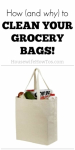 How to clean reusable grocery bags Your dirty bags could make you very sick! #laundry #cleaninghack #foodsafety