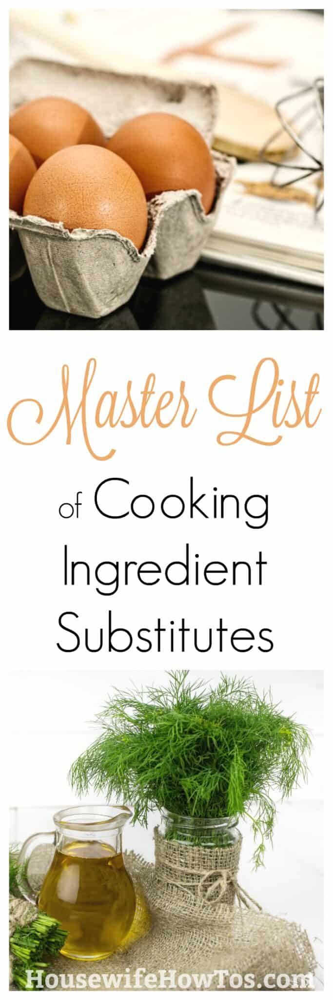 How to Substitute Cooking Ingredients - Skip a Trip to the Store with These Awesome Ingredient Swaps   #cookingtricks #cookinghacks #cookingskills #cooking