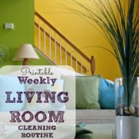 Printable weekly cleaning routine for living room from HousewifeHowTos.com