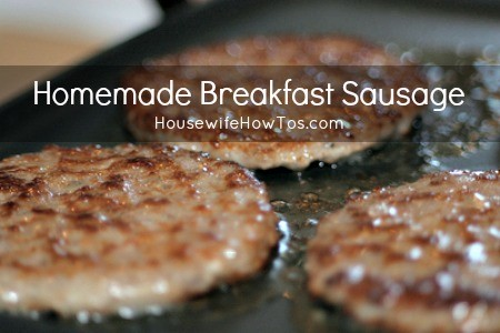 Homemade Breakfast Sausage from HousewifeHowTos.com