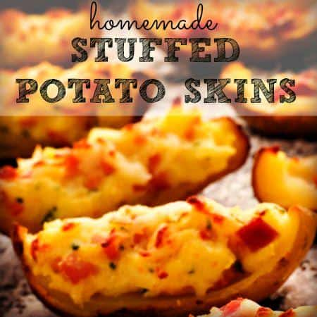 Football Foods - Stuffed Potato Skins