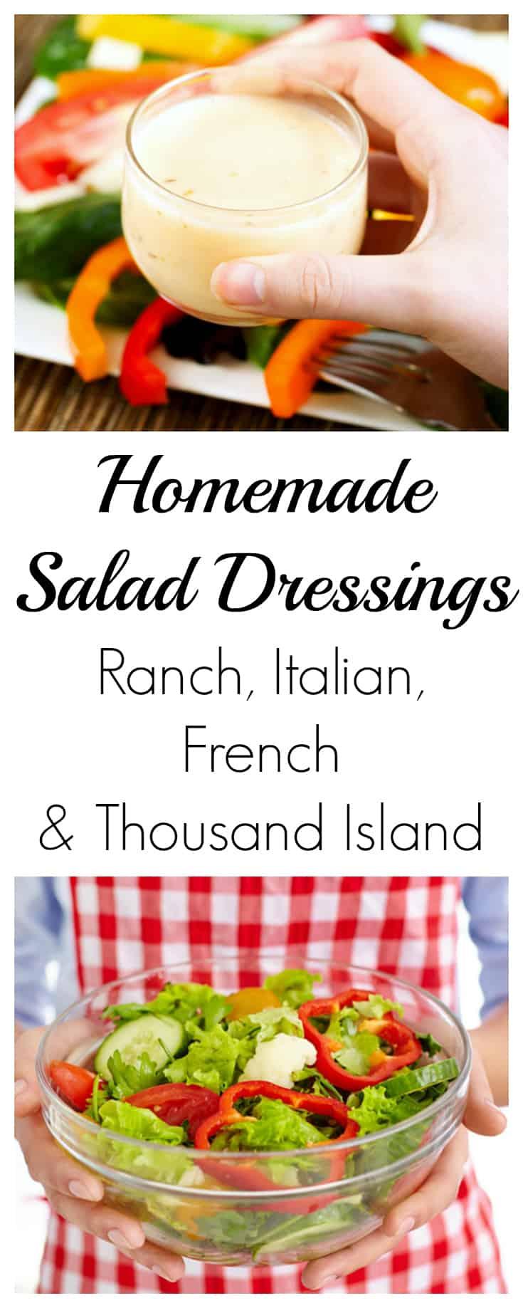 Four Homemade Salad Dressing Recipes | #saladrecipes #makeyourown