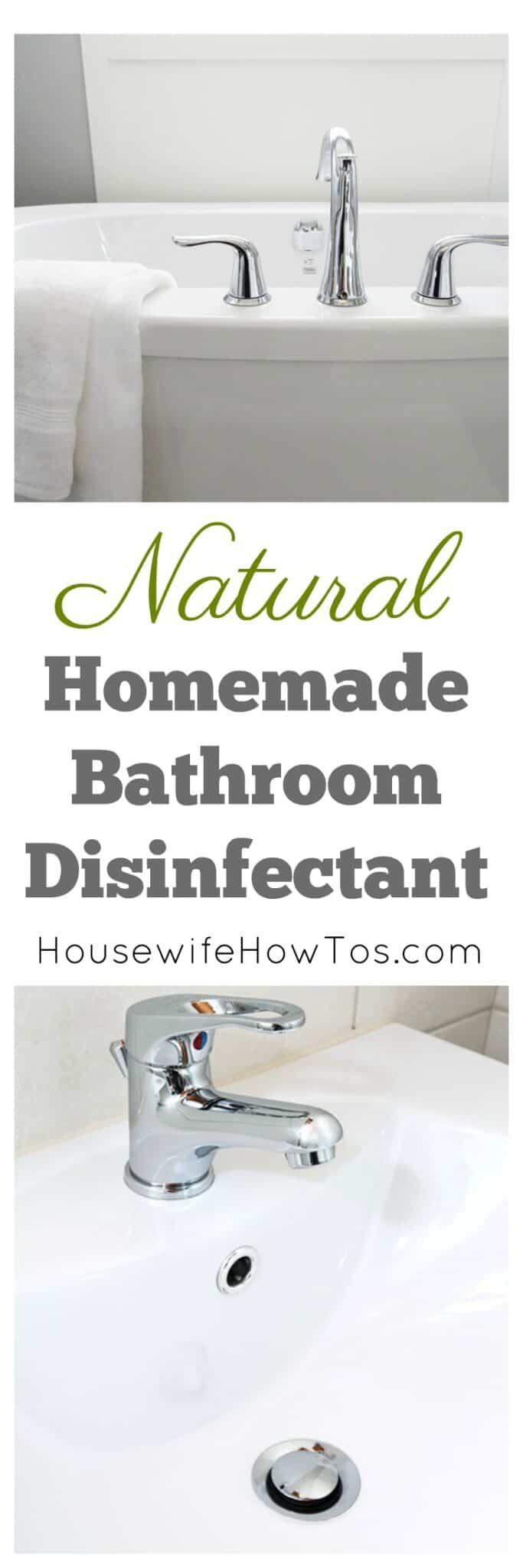 Homemade Bathroom Disinfectant Spray And Scrub