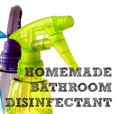 Homemade bathroom disinfectant from HousewifeHowTos.com
