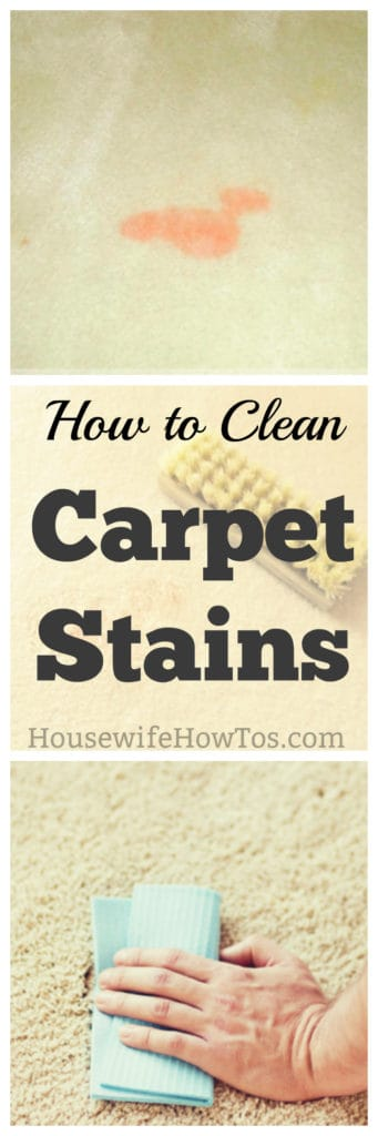 How To Clean Carpet Stains 187 Housewife How Tos 174