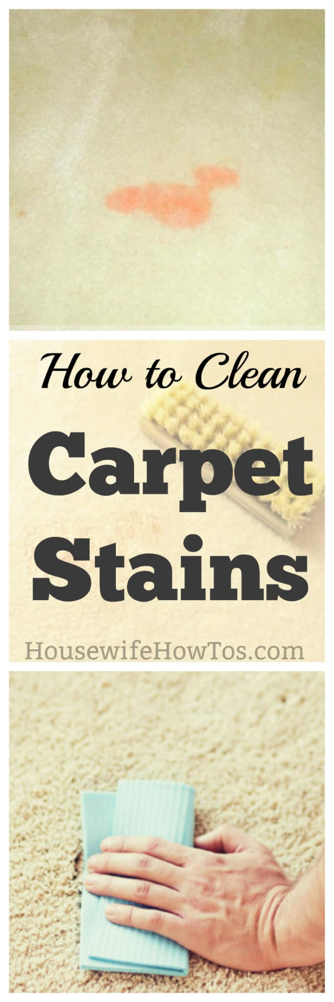How to Clean Carpet Stains - Grease, paint, pets, food, nail polish and more | #carpetstains #flooringcare #carpet #carpeting #cleaning #deepcleaning #stainremoval #springcleaning|