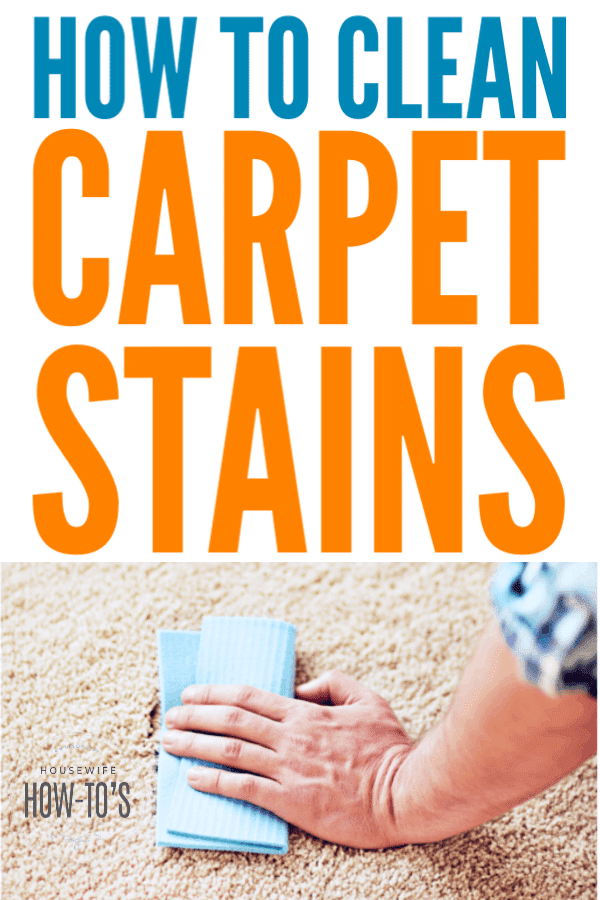 How to Clean Carpet Stains - Treat old or new stains yourself #cleaning #stainremoval