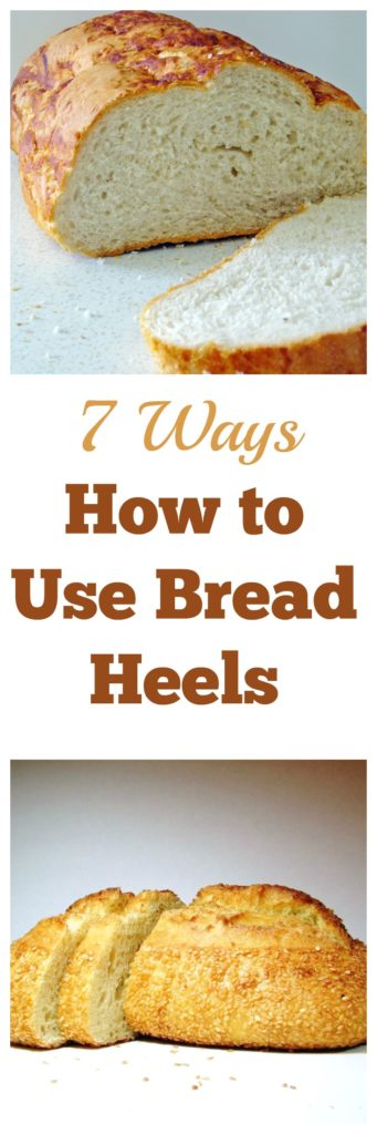 How to Use Bread Heels - 7 great ways to use bread ends instead of throwing them out #kitchenscraps #frugalcooking #cookingtricks #frugal #foodhack #bread #breadheels