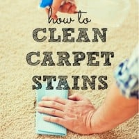 How to clean carpet stains from HousewifeHowTos.com