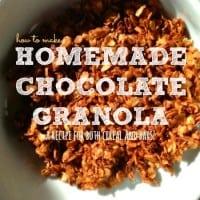 How to make chocolate granola recipe from HousewifeHowTos.com