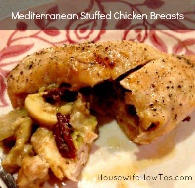 Mediterranean Stuffed Chicken Breasts from HousewifeHowTos